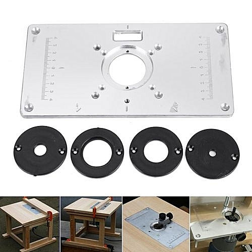 Universal 700c aluminum router table insert plate 4 rings screws 700c aluminum router table insert plate 4 rings screws for woodworking benches greentooth Images