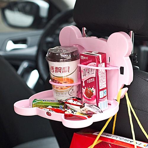Cartoon Style Foldable Back Car Seat Drink Holder Food Tray Storage Organizer Table