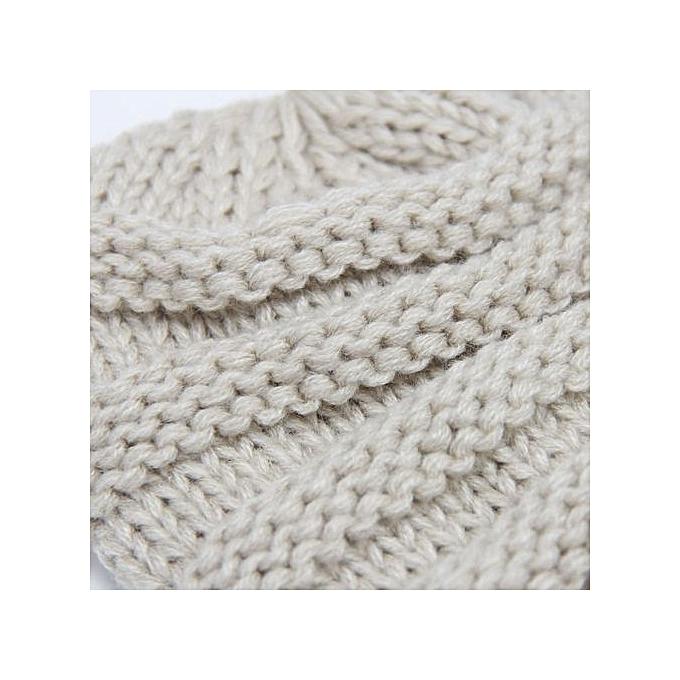 8a76d608955 Fashion Crochet Cap Baby Kids Hat Knitted Girls Hats- Beige   Best ...