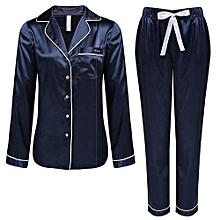 Women Casual Loose Sleepwear Pyjamas -BLue