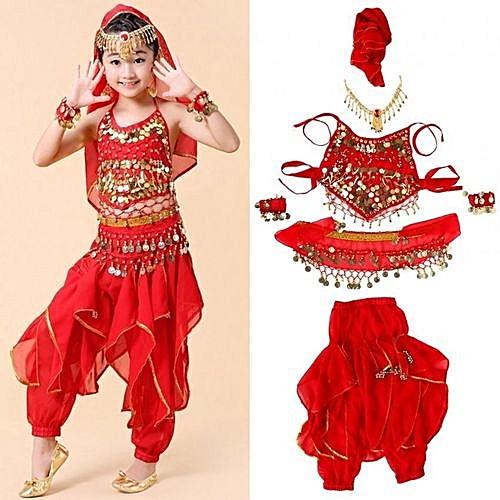 5b2d31cf66b9 UNIVERSAL Fashionable Children Kids Girls Belly Dance Costumes Long ...