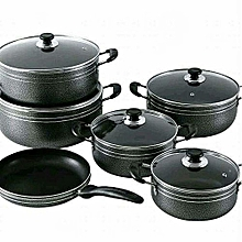 Non Stick Cooking Pots With Clear Lids And Pan