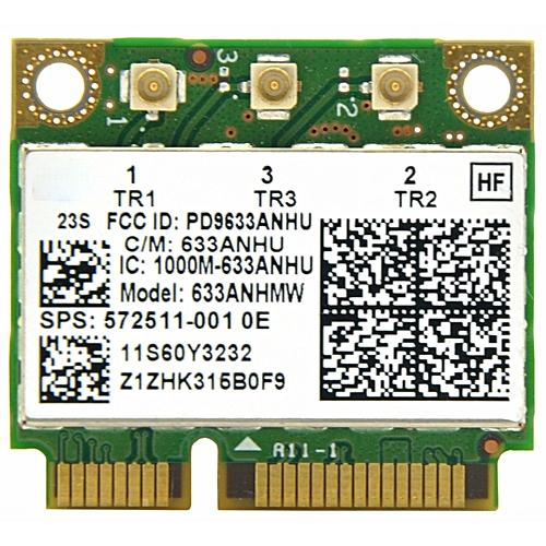 Ultrimate-N 6300 633ANHMW Half Size Mini PCI E WiFi Card 450Mbps  802 11a/g/n Wireless Card for Intel 6300AGN Lenovo Thinkpad/HP( )
