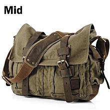 0ca410d15 ANAWISHARE Canvas Leather Crossbody Bag Men Vintage Messenger Bags Large  Shoulder Bag Travel Bags I AM
