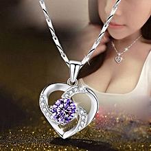 e25c53c7b1 Necklace Women's Heart Pendant Simple Wild Korean Clavicle Chain  Japanese Silver Accessories