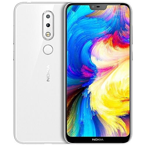 Nokia X6 5.8-inch (6GB, 64GB ROM) Android 8.1, 16MP+16MP, 3060mAh, Dual Sim 4G LTE Smartphone - White