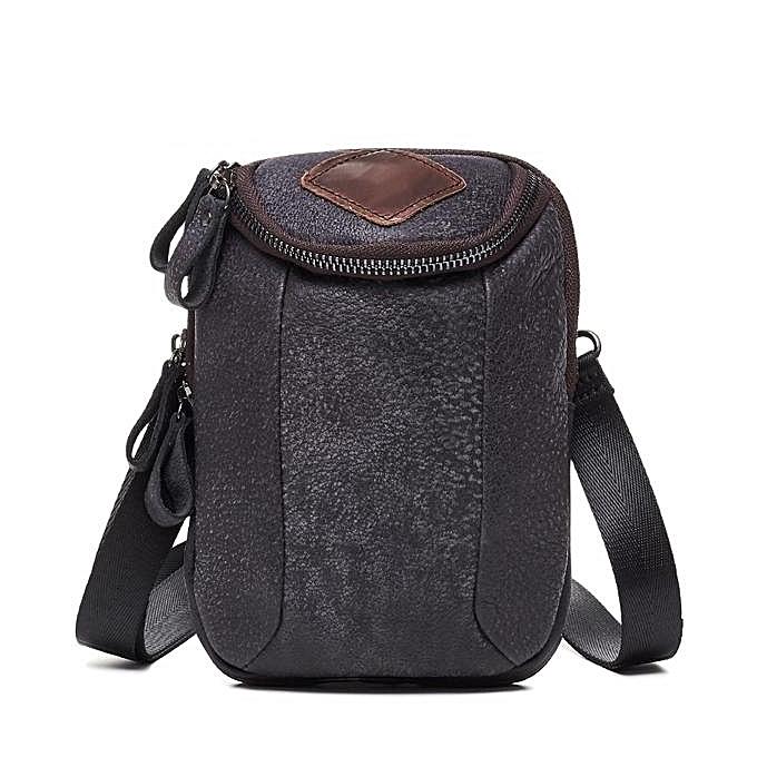 Men Genuine Leather Crossbody Bag Riding Hip Waist Pack Small Messenger With Shoulder Strap