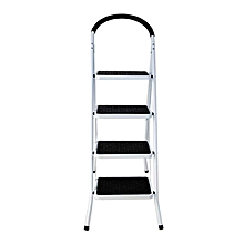 Power - 4 Step Steel Ladder - White & Black