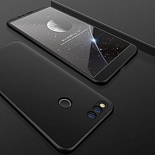 Honor 7X Case 360 Degree Full Body Cover For Huawei Honor 7X Matte Finish  Phone Shell Protector Fundas Black
