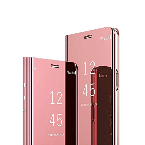 ISADERSER Huawei Nova 3i Case P Smart Plus Case Luxury View Book Style Flip  Mirror Makeup Glitter Slim Shockproof Full Body Protective Case Cover for