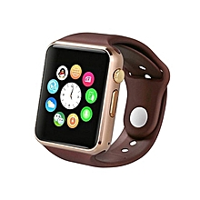 "A1 - 1.54"" -Smart Watch Phone -128MB ROM - 64MB RAM - 0.3MP Camera - Gold/Brown"