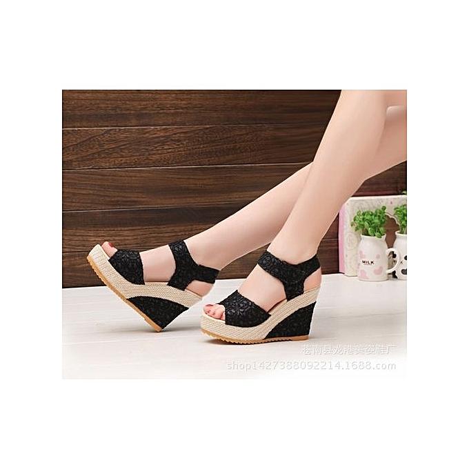 ... Refined Women s Shoes Elegant Sandals Women Wedges Shoes Fashion  Platform High Heels Sandals Women Open Toe 8bc91b3226be
