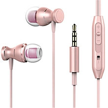 Earphone Headset In-line Control Magnetic Clarity Stereo Sound With Mic Earphones For IPhone Mobile Phone MP3 MP4 Rose Gold