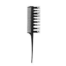 2 Side Hair Dyeing Comb Adjustable Sectioning Highlight Comb Weaving Cutting Brush Professional Salon Hair Coloring Styling Tool