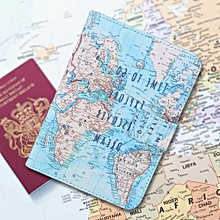 6d3bf561f97 Cute Printing PU Leather Passport Holder Protection Cover ID Credit Cards  Case  Map