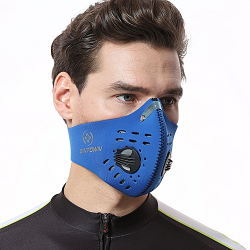 Generic XINTOWN FSXTKZ Outdoor Riding Activated Anti-haze Dust-proof  Breathable Comfortable Solid Color Face Mask Men   Women 80e6674c56