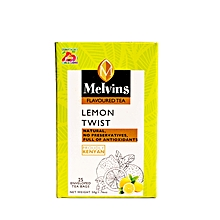 Melvins Lemon Twist  25 enveloped and tagged tea bags