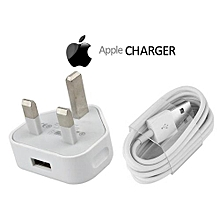 iPhone 6, 7, 8 /iPad/iPod Charger - White
