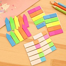 Creative Stationery Fluorescent Classification Index Paste Label Stickers