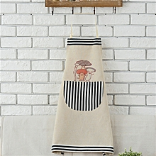 Cotton Linen Carton Pattern Aprons Woman Adult Bibs Home Cooking Baking Coffee Shop Cleaning Apron