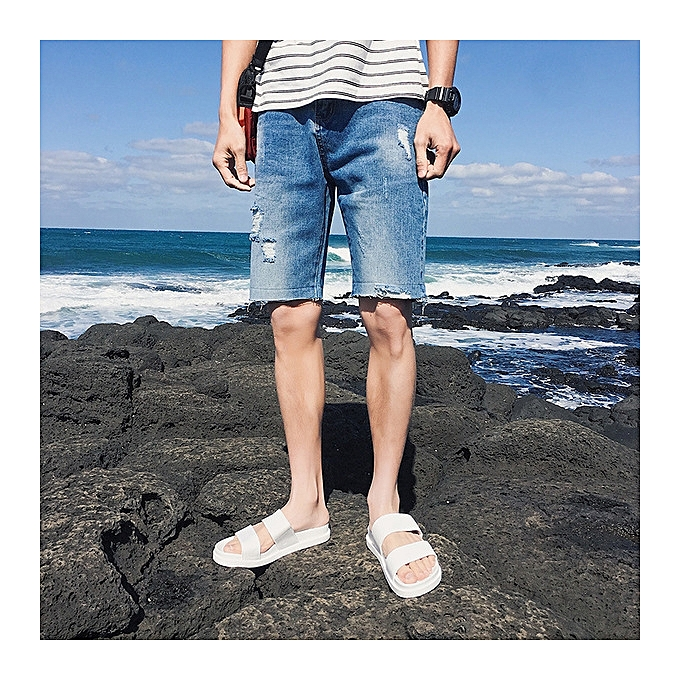 71a9332290 New style Large Size Fashion Men's Hole Short Jeans Summer Shorts  Breathable Denim Shorts Male-