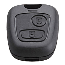 Black 2 Buttons Entry Replacement Key Remote Fob Shell Case For PEUGEOT 106 107 206 207 307 406 407