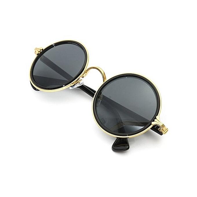 Buy Fashion Vintage Steampunk Round Sunglasses Metal Frame Retro ...