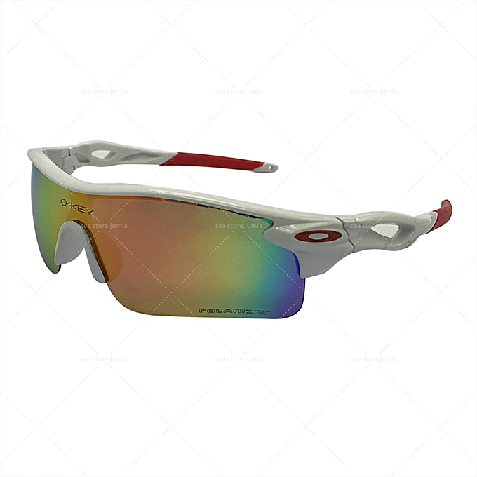b50b0c2471 Oakley Radarlock Path Polarized Sunglasses OO9181 - White Red   Best ...
