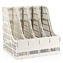 9848 Four Lattices Plastic File Holder - Gray