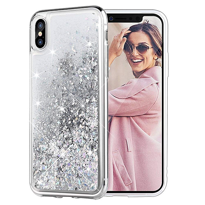 pretty nice 22241 2697d iPhone X Case, iPhone XS Glitter Case [Liquid Series] Girls Luxury Fashion  Bling Flowing Liquid Floating Sparkle Glitter Cute Soft TPU Case for iPhone  ...