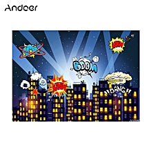 Andoer 1.5 * 2.1m/5 * 7ft Super Hero City Photography Background Baby Children Backdrop Photo   Studio Pros