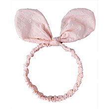 Cute Cotton Big Rabbit Ears Baby Girl Hairband Infant Toddler Stretchy Headwear - Pink
