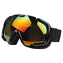 Sg-173 Double Replacement Anti-uv Anti-fog Lens Skate Ski Snowboard Goggles With Adjustable Non-slip Strap(black)