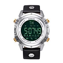 NORTH NS 7008 Chronograph Waterproof Bluetooth Watch Leather Strap Sport Men Smart Watch