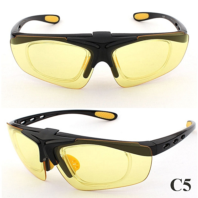 a0218f552c9 Clip-on Lens Myopia Frame Cycling Eyewear Sports Cycle Glasses Men Women  MTB UV400 Bike