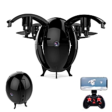 JDRC JD-22W JD22W FLYING EGGS 720P WIFI FPV Altitude Hold Folding RC Drone Quadcopter-Black0.3MP Left Hand