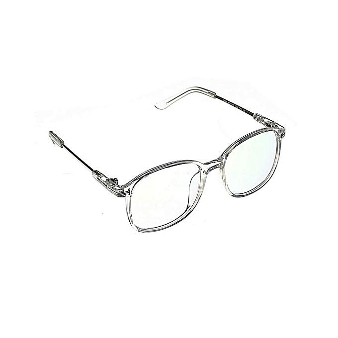 ddc30a03c25e Unisex Full Rim Spectacles Transparent Eyeglass Frame Clear Glasses Eyewear  Transparent