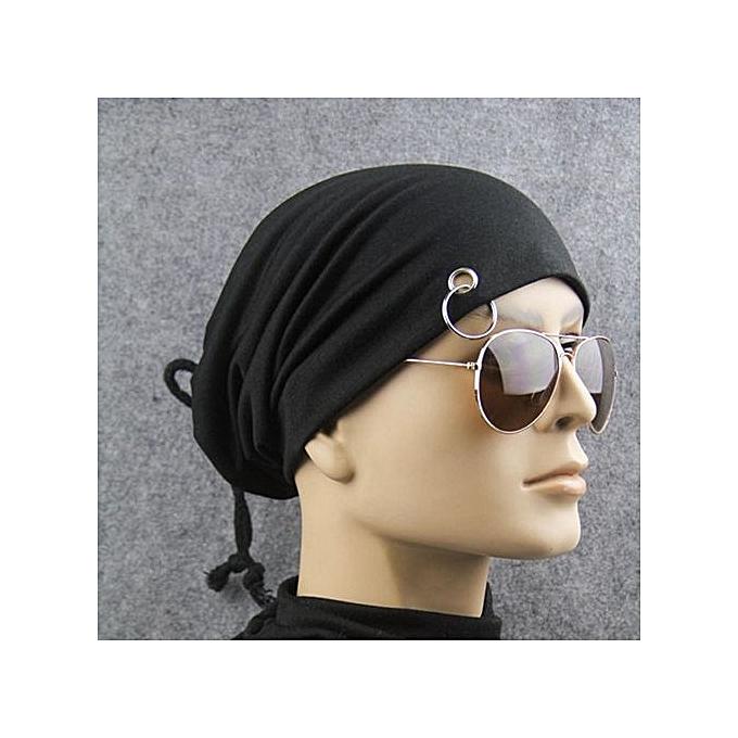 Men Women With Ring Cap Headband Iron Ring Moon Hat Hip Hop Neutral Hat BK 07f83b3ae