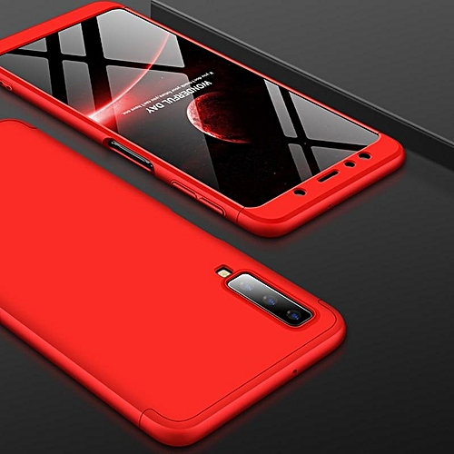 pretty nice d3725 f3935 For Samsung Galaxy A7 2018 Case 360 Full Protection 3 IN 1 Ultra Thin Hard  PC Back Cover For Samsung A7 2018 A750 A750F Case