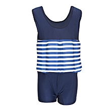 Blue & White Stripes Swimsuit With Removable Floating Foams