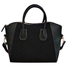 Guapabien Patchwork Rivet Animal Zipper Head Handbag Shoulder Messenger Smile Face Bag