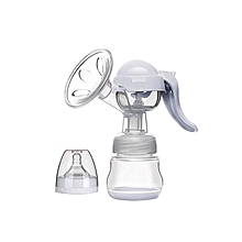 Healthy Manual Breast Pump + Free Baby Bottle Cap Cream/White