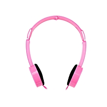 Retractable Foldable Over-ear Headphone With Mic Stereo Bass For Kids - Pink