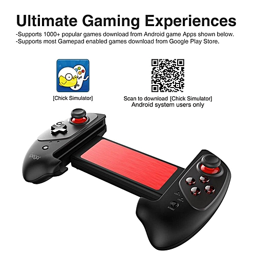 HonTai ipega PG-9083 BT Gamepad Wireless Retractable Game Controller for  iOS Android Smartphone Tablet Win7 Win8 Win10 PC