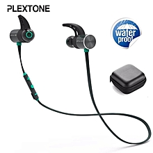 PLEXTONE BX343 Waterpoof Bluetooth Headset Wireless Sport Running Headphones Handsfree Earbuds Magnetic Sport Earphones with Microphone for Moblie Phone(Black Blue Yellow)