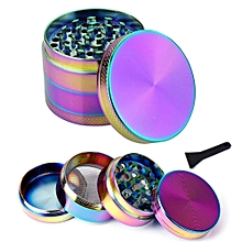 Rainbow Grinder, Fancyli Multi-color 4 Pieces Tobacco Grinder Spice Grinder Herb Grinder with a cleaning brush (50X40MM)