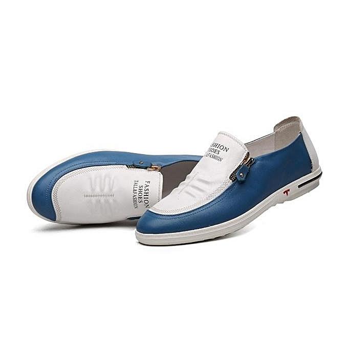 ... Fashion Men Side Zipper Soft Low Top Slip On Casual Shoes Loafers-EU ... efd8cf3b9ca