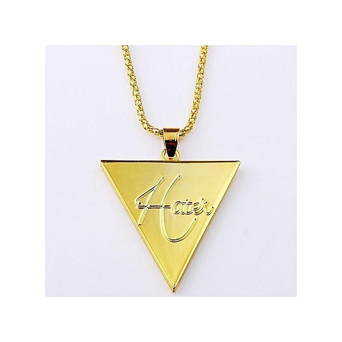 Buy Fashion Tanson Inverted Triangle Pendant Necklace Gold Best