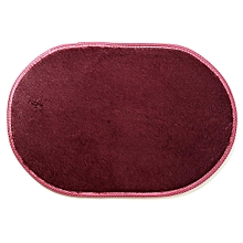 1Pcs 40*60CM Bathroom Carpets Absorbent Soft Memory Foam Doormat Floor Rugs Oval Non-slip Bath Mats Wine Red
