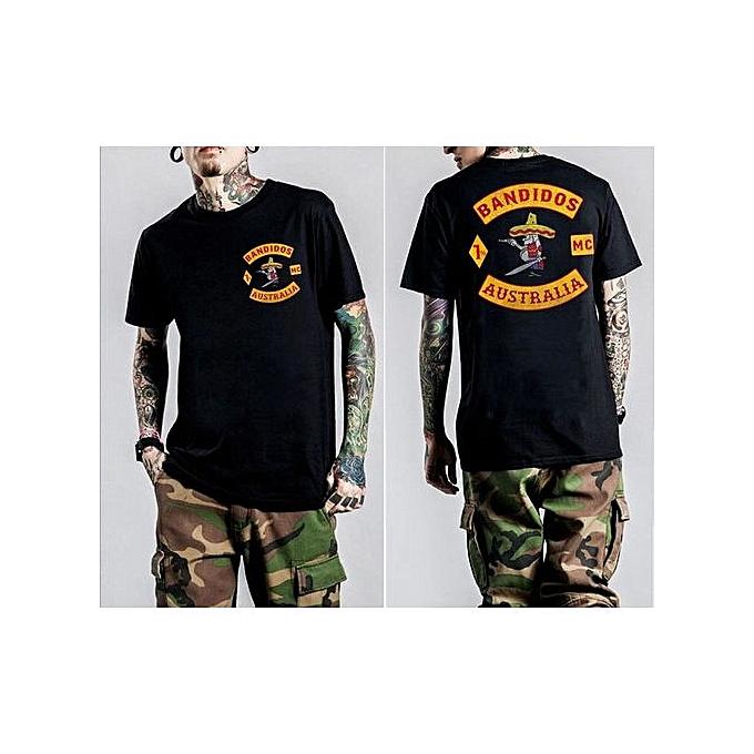 2e9763ea369292 New Fashion Casual Men T Shirts Bandidos MC AUSTRALIA Shirt Chopper  Motorcycle Club Printed Graphic Short
